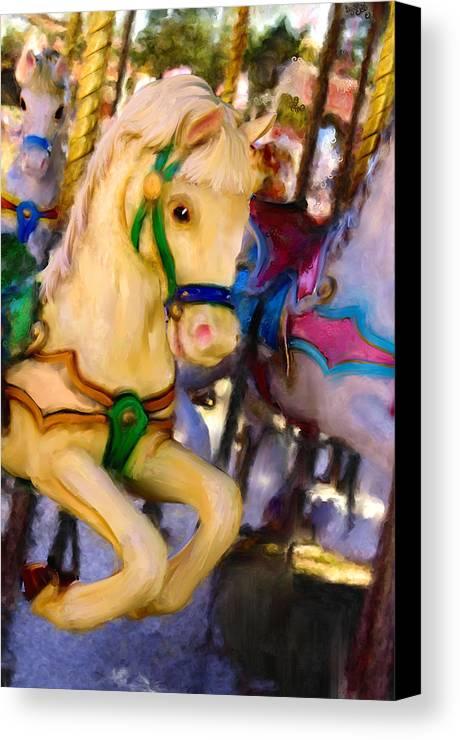 Carousel Canvas Print featuring the digital art Carousel #2 by Sandy Harrison