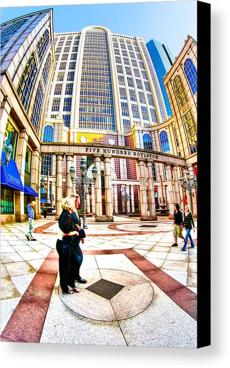 Boston Canvas Print featuring the photograph Caught In The Geometry Of Boylston Street by Mark E Tisdale