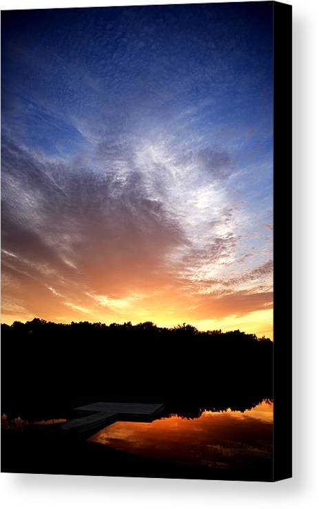 Sunset Canvas Print featuring the photograph Cedar Lake Sunset by Shannon Edwards