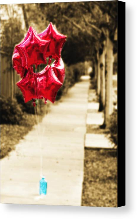 Balloons Canvas Print featuring the photograph Celebrating The Journey by Vanessa Thomas