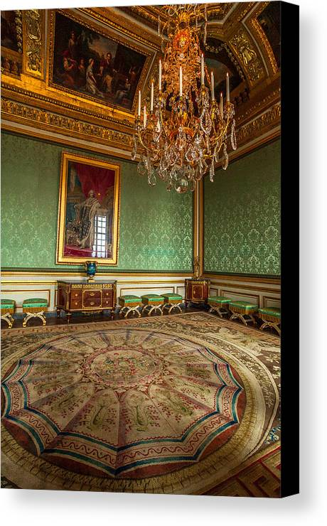 Versailles Paris France Canvas Print featuring the photograph Chamber Of Versailles by Alex Zabo
