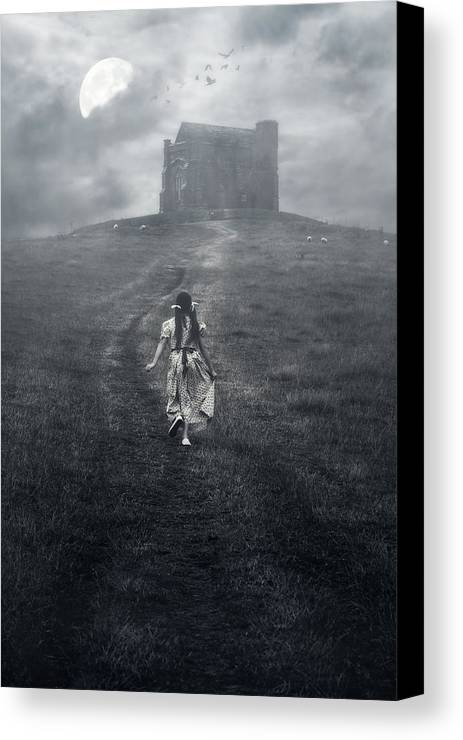 Girl Canvas Print featuring the photograph Chapel In Mist by Joana Kruse
