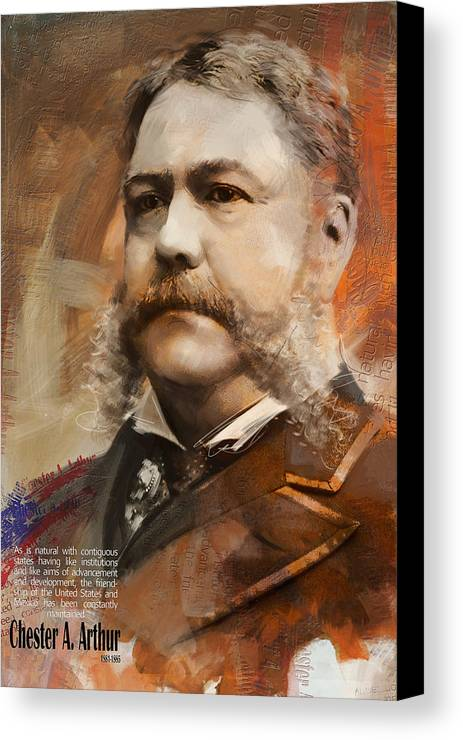 Chester A. Arthur Canvas Print featuring the painting Chester A. Arthur by Corporate Art Task Force