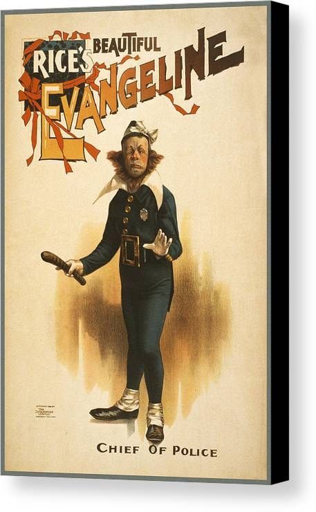 Entertainment Canvas Print featuring the drawing Chief Of Police by Aged Pixel