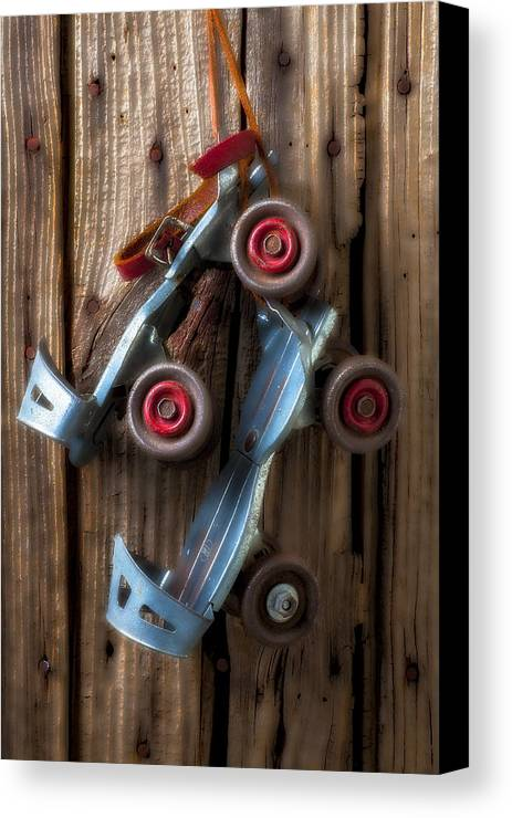 Old Roller Skates Canvas Print featuring the photograph Childhood Skates by Garry Gay