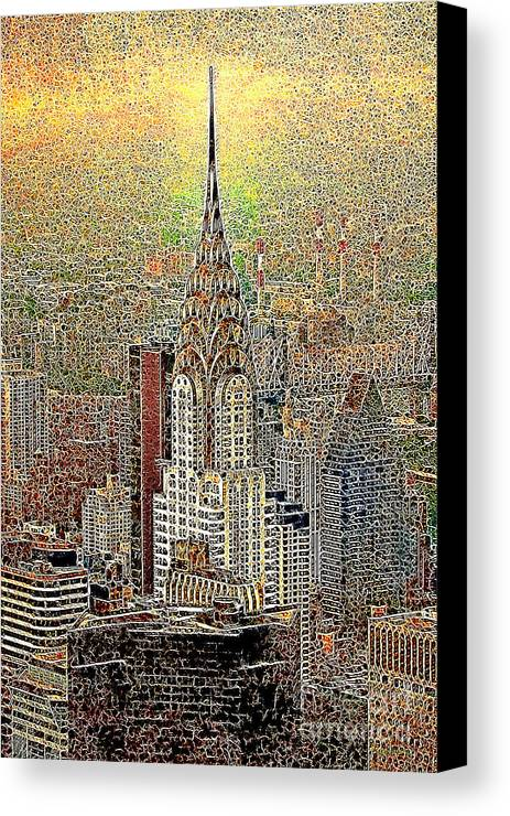 Chrysler Building Canvas Print featuring the photograph Chrysler Building New York City 20130425 by Wingsdomain Art and Photography