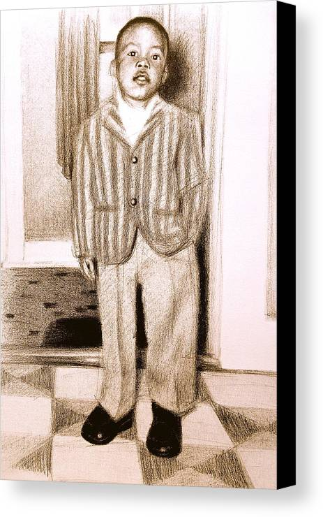 Suit Canvas Print featuring the painting Clean As A Chittlin' by Gregory DeGroat