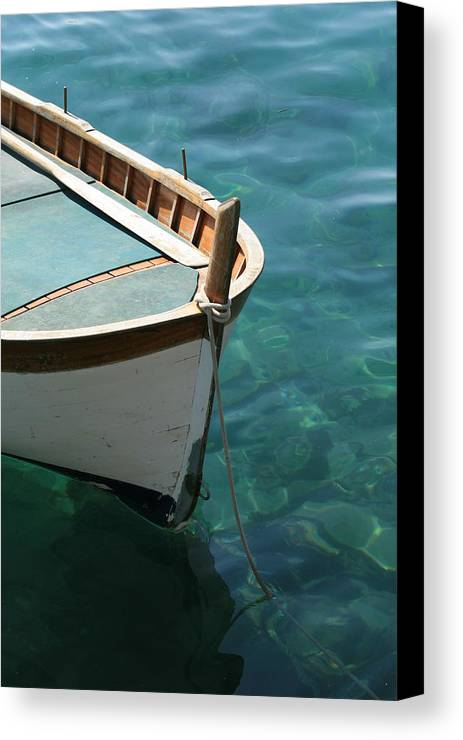 Boat Canvas Print featuring the photograph Clear Waters by David Miller