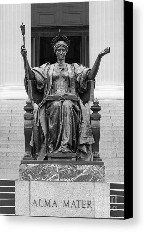 Columbia Canvas Print featuring the photograph Columbia University Alma Mater by University Icons
