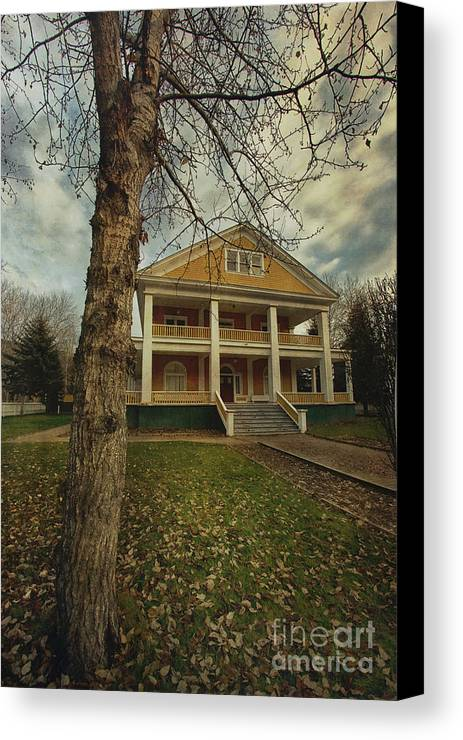 Commissioner's Residence Canvas Print featuring the photograph Commissioner's Residence by Priska Wettstein