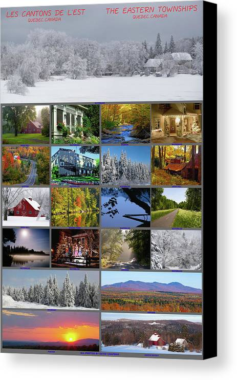 Barn Canvas Print featuring the photograph Composite Of Photographs From Various by David Chapman