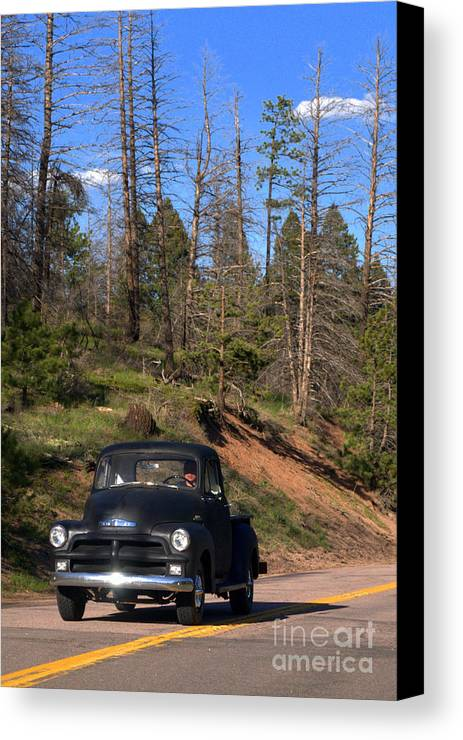 Driving Canvas Print featuring the photograph Country Roads by Anjanette Douglas