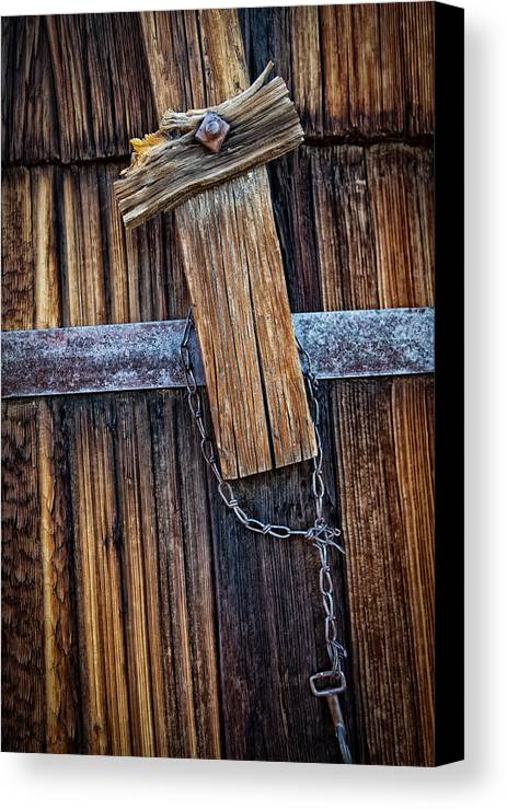 Abstract Canvas Print featuring the photograph Cowboy Cross And Rosary by Albert Lipsey