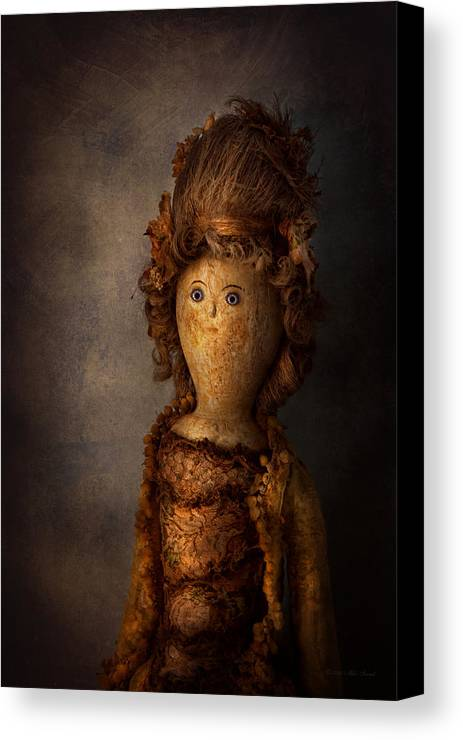 Halloween Canvas Print featuring the photograph Creepy - Doll - Matilda by Mike Savad