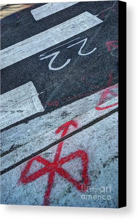 Crosswalk Canvas Print featuring the photograph Crosswalk by Jim Wright