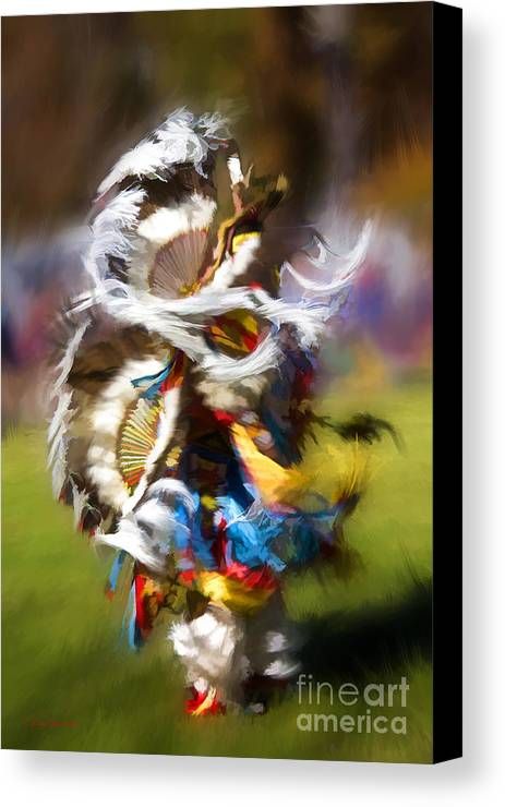 Indian Canvas Print featuring the painting Dance by Linda Blair