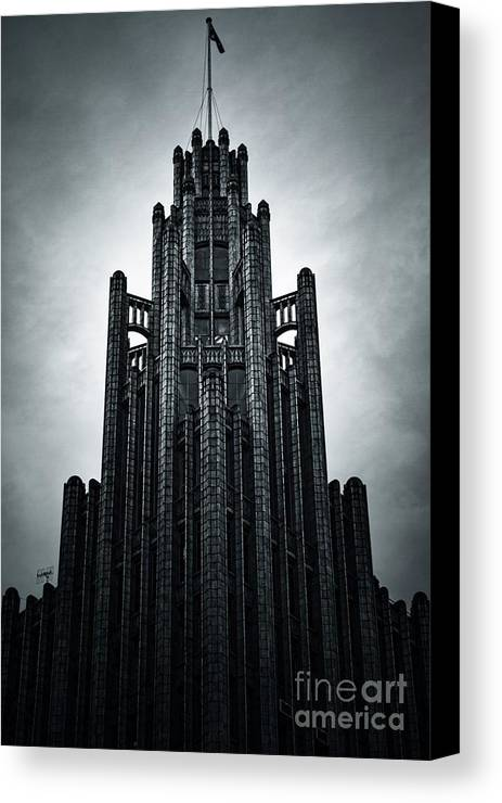 Manchester Canvas Print featuring the photograph Dark Grandeur by Andrew Paranavitana
