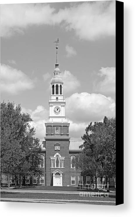 Big Green Canvas Print featuring the photograph Dartmouth College Baker- Berry Library by University Icons