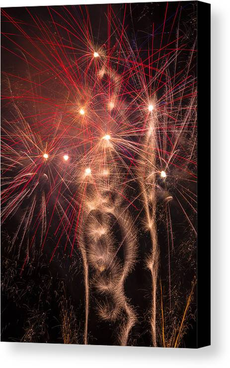 Dazzling Canvas Print featuring the photograph Dazzling Fireworks by Garry Gay
