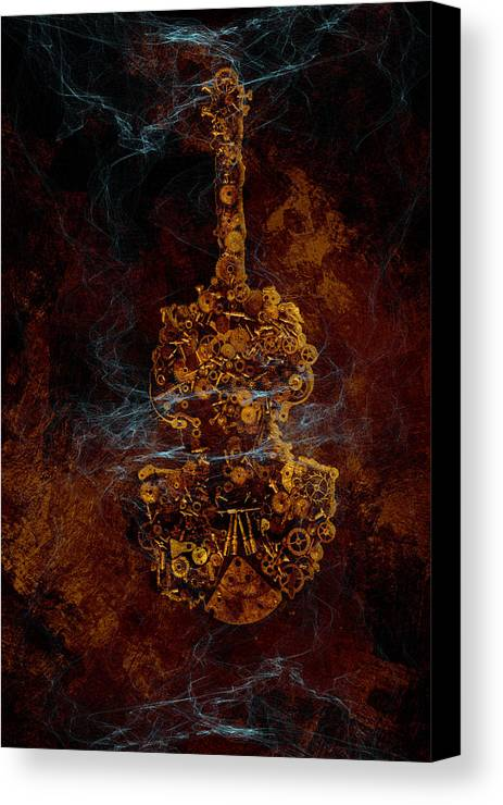 Violin Canvas Print featuring the photograph Devils Fiddle by Fran Riley