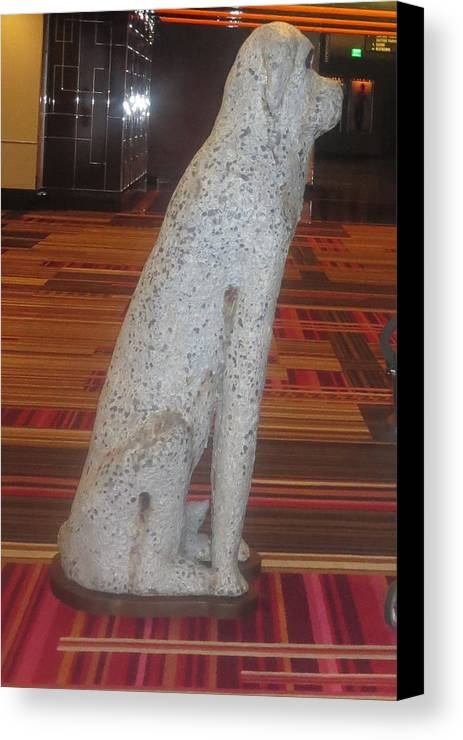 Vegas Canvas Print featuring the sculpture Dog Pet Man's Best Friend by Navin Joshi