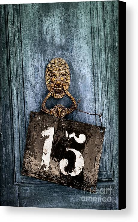 Blue Canvas Print featuring the photograph Door 15 by Carlos Caetano