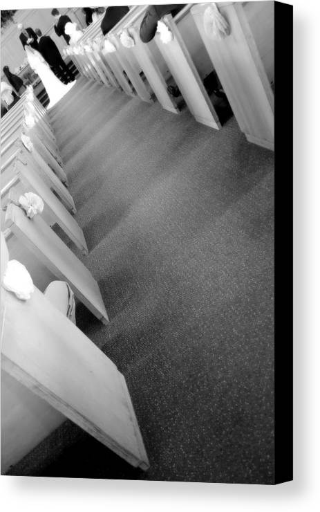 Down The Aisle Canvas Print featuring the photograph Down The Aisle by Valentino Visentini