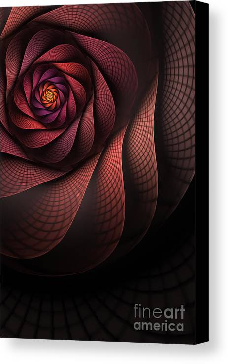 Heart Of The Dragon Canvas Print featuring the digital art Dragonheart by John Edwards