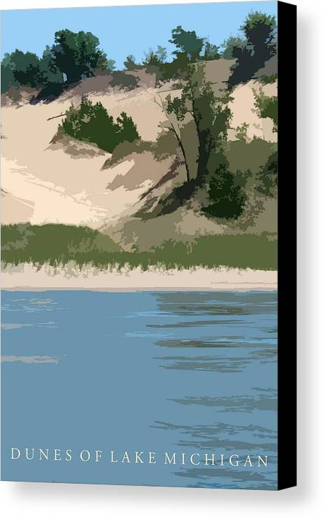 Dunes Canvas Print featuring the photograph Dunes Of Lake Michigan by Michelle Calkins