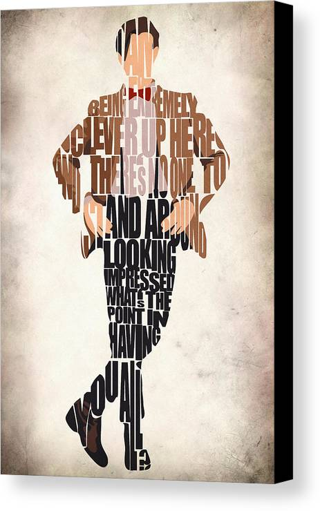 Eleventh Doctor Canvas Print featuring the digital art Eleventh Doctor - Doctor Who by Ayse and Deniz