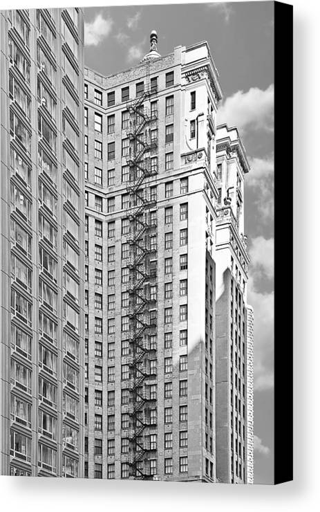 Chicago Canvas Print featuring the photograph Emergency Exit Chicago Il by Christine Till