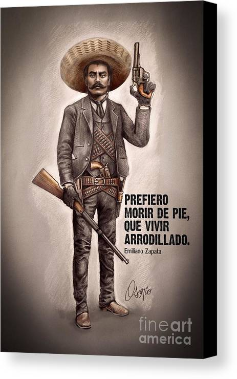 Emiliano Zapata Canvas Print Canvas Art By Claudio Osorio