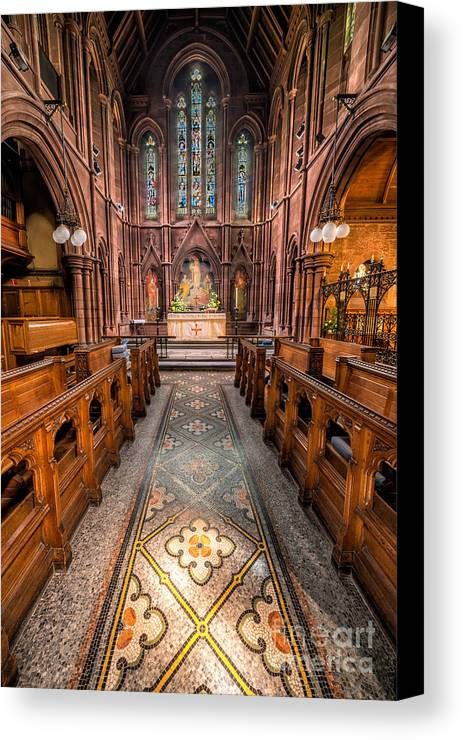 Anglican Canvas Print featuring the photograph English Church 2 by Adrian Evans