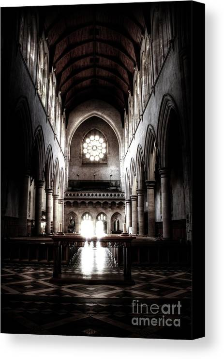 Architecture Canvas Print featuring the photograph Enter by Simone Byrne Photography