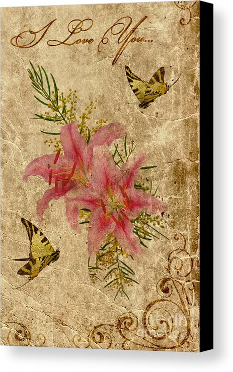 Valentine Canvas Print featuring the photograph Eternal Love Message by Olga Hamilton