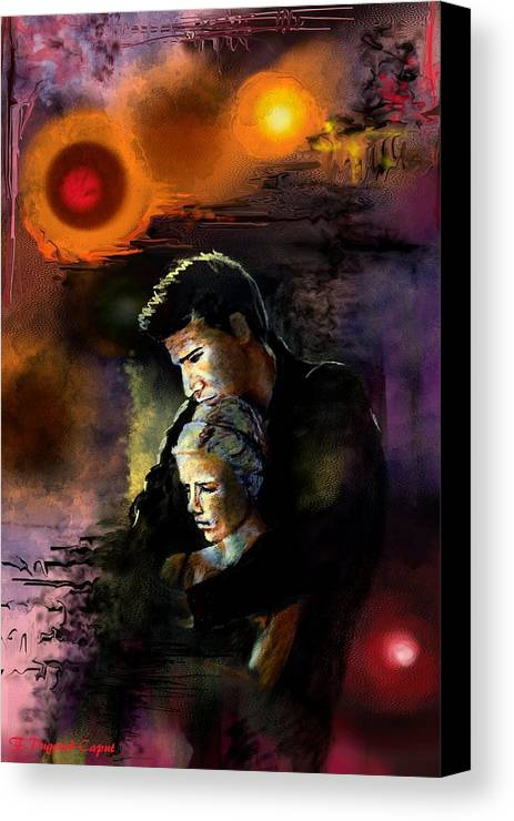 Portrait Canvas Print featuring the painting Eternel by Francoise Dugourd-Caput