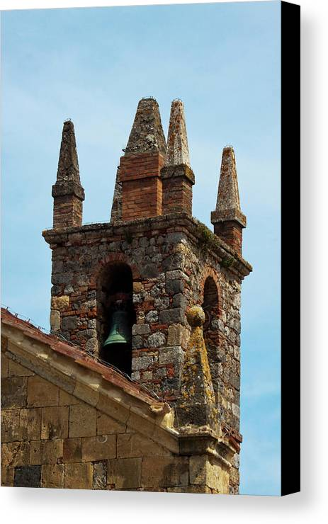 Beautiful Canvas Print featuring the photograph Europe Italy Monteriggoni by Terry Eggers