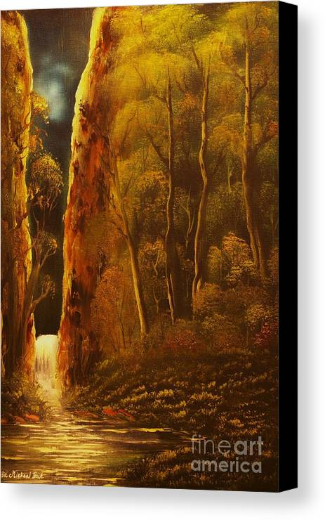 Moonlight Canvas Print featuring the painting Evening Calm-original Sold-buy Giclee Print Nr 30 Of Limited Edition Of 40 Prints by Eddie Michael Beck