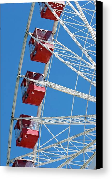 America Canvas Print featuring the photograph Ferris Wheel by Jim West