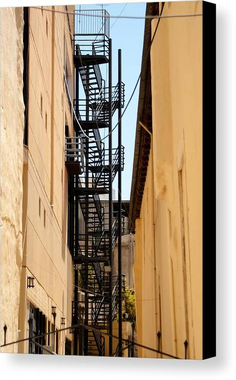 Escape Canvas Print featuring the photograph Fire Escape by Frank Gaertner