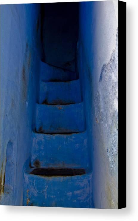 Blue Canvas Print featuring the photograph Five Blue by Kabir Ghafari