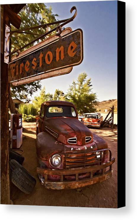 Ford Fever Canvas Print featuring the photograph Ford Fever by Priscilla Burgers