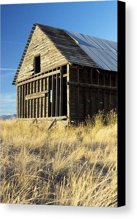 Old Houses Canvas Print featuring the photograph Forgotten by Dana Moyer