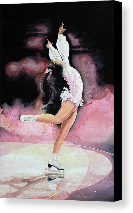 Skating Canvas Print featuring the painting Free Spirit by Hanne Lore Koehler