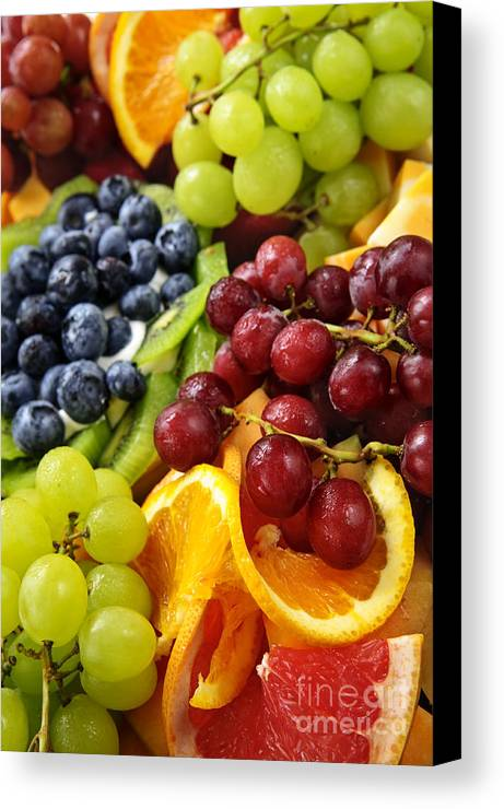 Fruit Canvas Print featuring the photograph Fresh Fruits by Elena Elisseeva