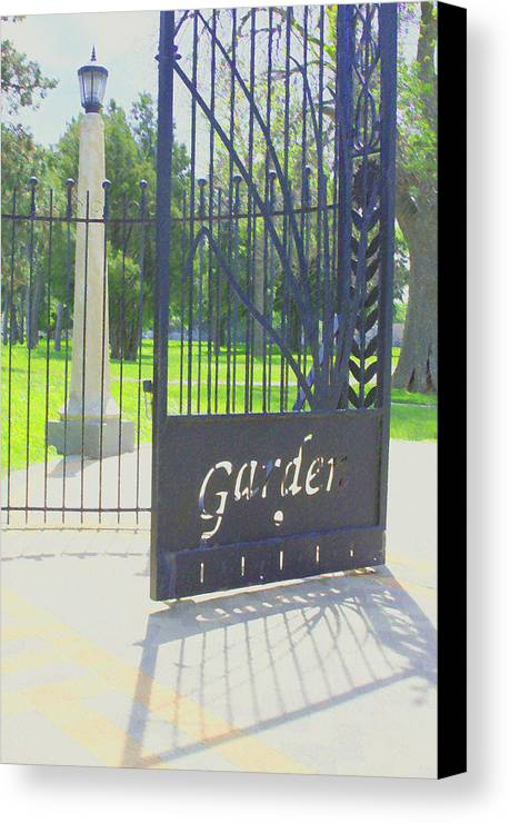 Gate Canvas Print featuring the photograph Garden Gate by Andrea Lynch