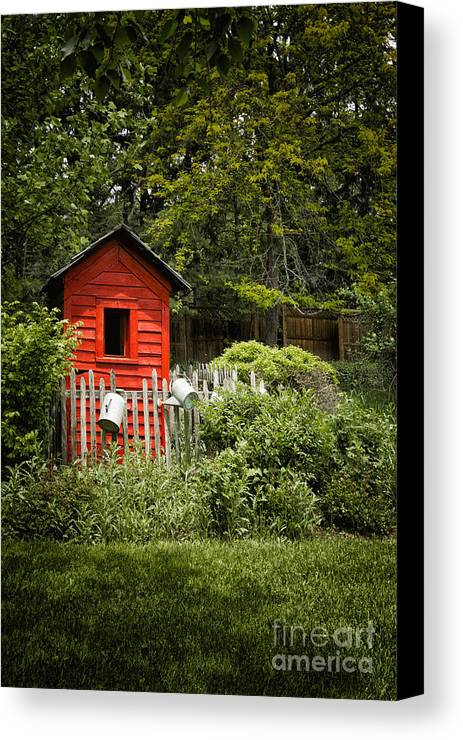 Shed Canvas Print featuring the photograph Garden Still Life by Margie Hurwich