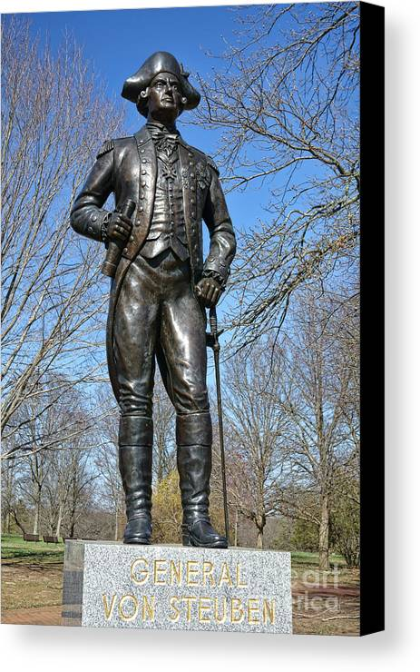 American Canvas Print featuring the photograph General Von Steuben by Olivier Le Queinec