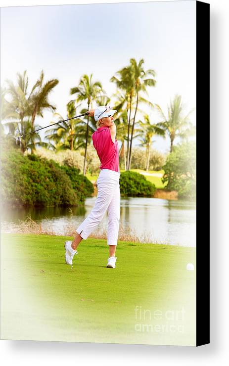 Photograph Canvas Print featuring the photograph Golf Hawaii by Jan Tyler