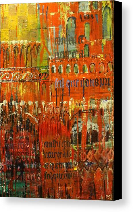 Abstract Canvas Print featuring the painting Gothic Abstract by Philip Steffens